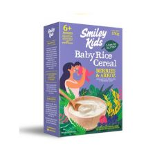 CEREAL BABY RICE GLUTEN FREE BERRIES 150 GRS SMILE